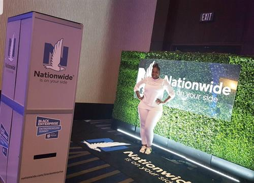 Nationwide trade show setup with custom backdrop