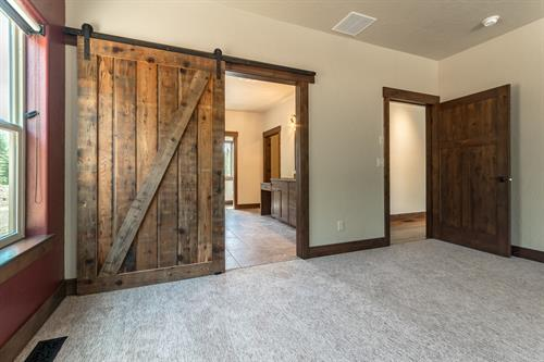 Master Bedroom Barn Slider Door