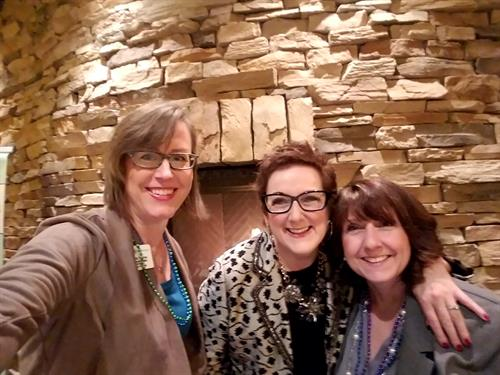 With Kim Duke and Teresa Thomas