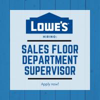 Sales Floor Department Supervisor