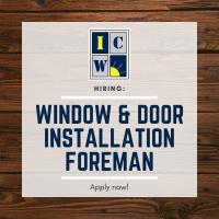 Window and Door Installation Foreman