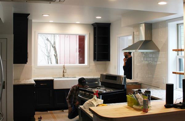 Foster Ave Renovation-Range Installation