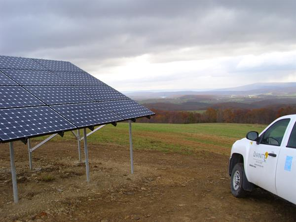 Ground Mounted Solar-Sunset