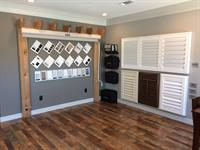 Outdoor shades and shutter displays