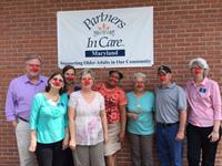 Partners In Care staff and volunteers on Walgreen's Red Nose Day!