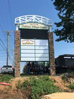 Fallston Village Fallston MD 22' tall free standing Pylon ID sign with LED Message Center