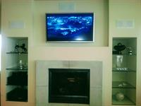 Installed remote to control lighting, outdoor speakers, cable, and DVD.