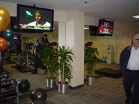 TV and Speakers installed in corporate gym.