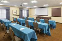 Meeting room includes HSIA/Wifi, LCD projector, coffee station, conference board