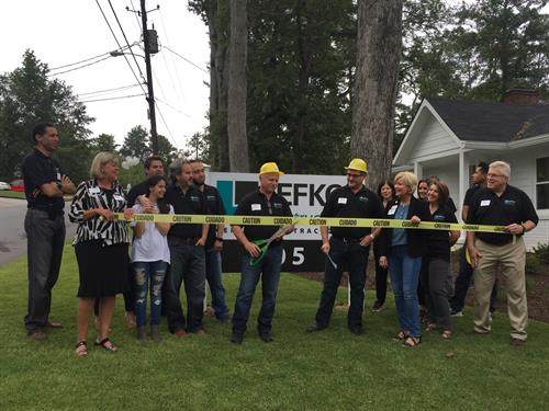 Ribbon Cutting - LEFKO Construction Office