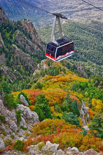 Beautiful Fall colors from the Sandia Peak Tram.