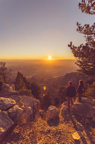 Over 100 miles of hiking in the Sandia Peak Mountains. Photo by Minh Quan.