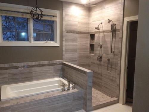 custom tub and shower
