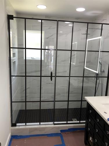 New Grid Design Printed on the Glass