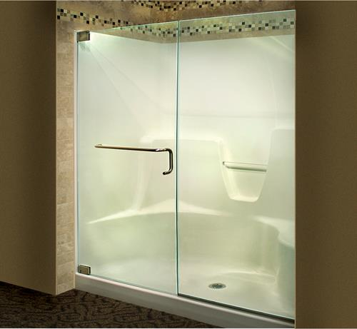 Frameless on a Fiberglass Shower unit