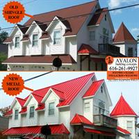 Avalon Building Concepts replaced old shingles with a Crimson Red ribbed metal roof on Kitson Drive in Rockford. Avalon is a Grand Rapids GAF Master Elite roofer, WOOD TV 8's Roofing Expert and three-time President's Club Award winner. Our customer service has earned us an A+ rating with the Better Business Bureau, a Super Service Award with Angies List, Best of Houzz 2017 honors and Elite Service Professional status with Home Advisor. We offer roofing, siding, insulation, windows and much more.