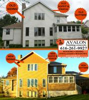 This home in Hudsonville transformed its siding, soffit, fascia and gutters with Avalon Building Concepts.  Avalon is a Grand Rapids GAF Master Elite roofer, WOOD TV 8's Roofing Expert and three-time President's Club Award winner. Our customer service has earned us an A+ rating with the Better Business Bureau, a Super Service Award with Angies List, Best of Houzz 2017 honors and Elite Service Professional status with Home Advisor. We offer roofing, siding, insulation, windows and much more.
