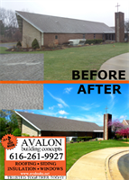 Avalon Building Concepts transformed the roof on Kentwood Christian Church.  Avalon is a Grand Rapids GAF Master Elite roofer, WOOD TV 8's Roofing Expert and three-time President's Club Award winner. Our customer service has earned us an A+ rating with the Better Business Bureau, a Super Service Award with Angies List, Best of Houzz 2017 honors and Elite Service Professional status with Home Advisor. We offer roofing, siding, insulation, windows and much more.