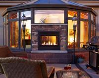 Outdoor Lifestyles - Twilight Modern Indoor/Outdoor Gas Fireplace