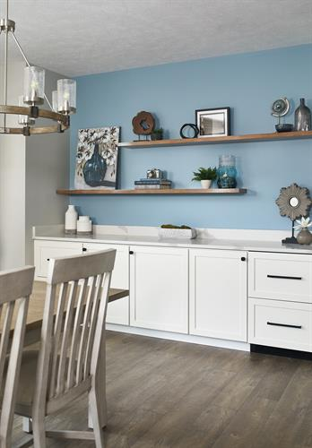 Transitional Condo Remodel- Dining Built-In