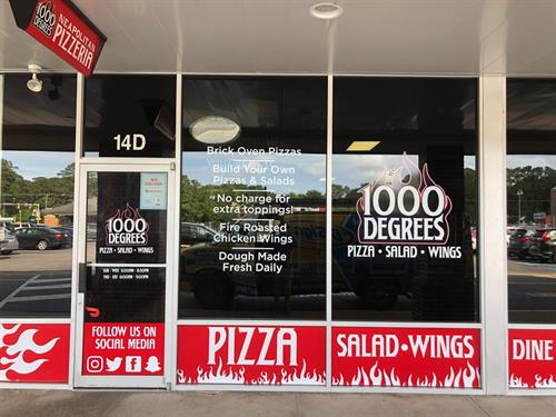 Store front lettering and graphics