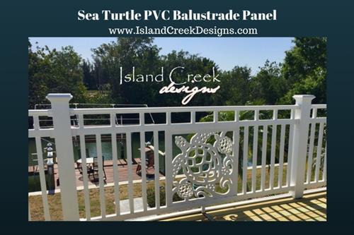 Custom Sea Turtle Porch Railing Balustrade Panel