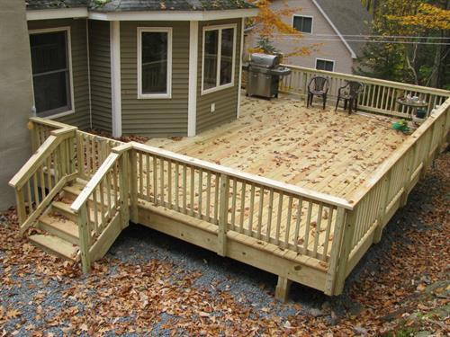 Deck extension for your summer gatherings.