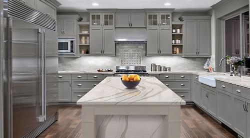 We showcase Cambria Quartz in our newly enlarged showroom.