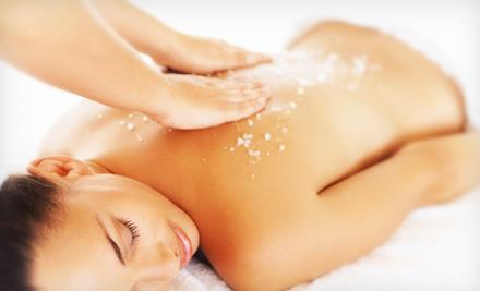 Treat yourself to a Body Stress Fix Lavender Body Wrap or Sea Salt Body Scrub