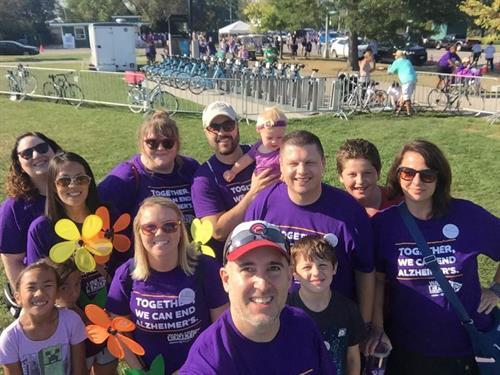 Midwest Team at Alzheimer's Walk