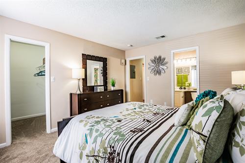 Guest bedroom in our B2 floor plan