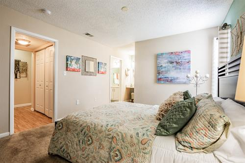 Master Bedroom in our B2 floor plan