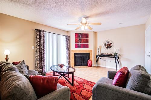 Living room in our B2 floor plan