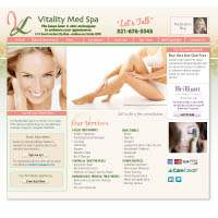 Website: Vitality Med Spa / Cosmetic Surgeon