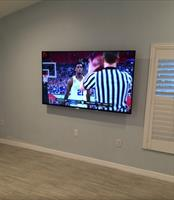 "75"" TV on Articulating Bracket"