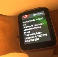 Control 4 App Integration on  Apple Watch