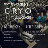 CRYO benefits you before and after a workout! Workout Enhancement/ Workout Recovery!