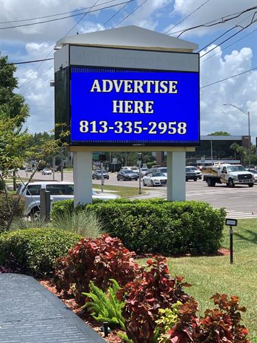 Advertise on LED Sign at traffic light at 14001 N Dale Mabry and Handy Road