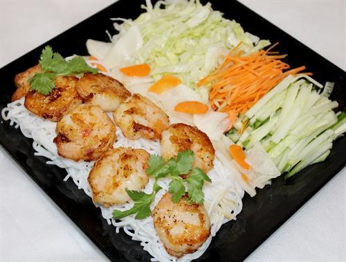 Grilled Shrimp Noodle Bowl
