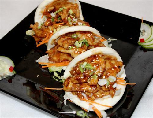 BBQ Chicken Bao Buns