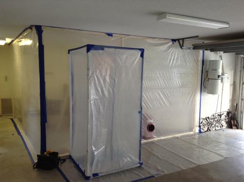 Containment For Mold Project - All measures taken to protect home from cross contamination