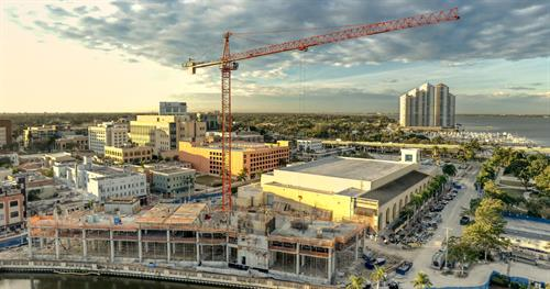 Construction progress with the new hotel in Fort Myers