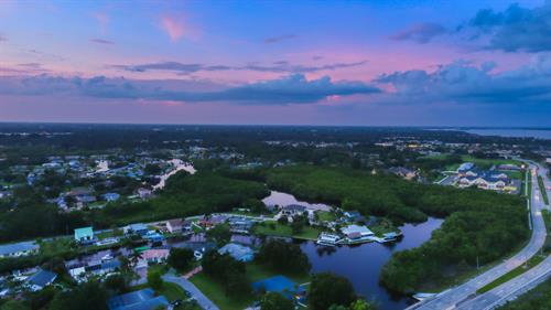 Sunset over North Fort Myers Looking to the North