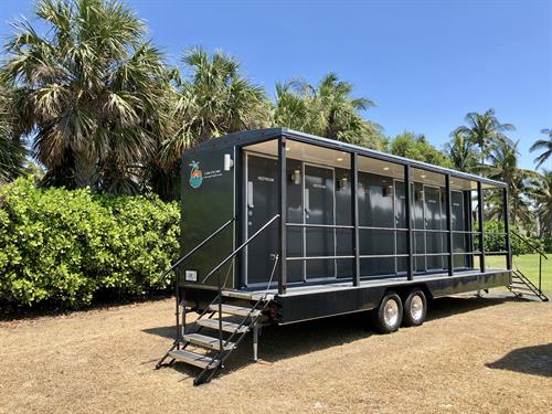Luxury Restroom Trailer, the cleanest and most beautiful in SWFL