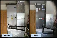 Carrier air handler replaced with new Lennox air handler