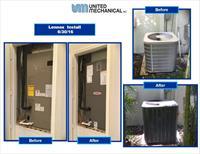 Lennox compressor and air handler installation in June 2016 (02)
