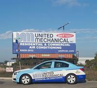 United Mechanical billboard on Alico Rd.