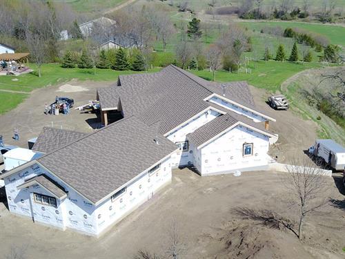 Hurley home aerial - Harrisburg, SD