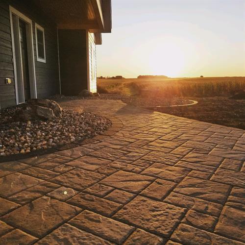 Custom designed paver entry