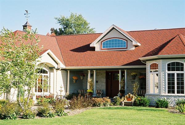 Eastern Shingle Style with Red Roof Front